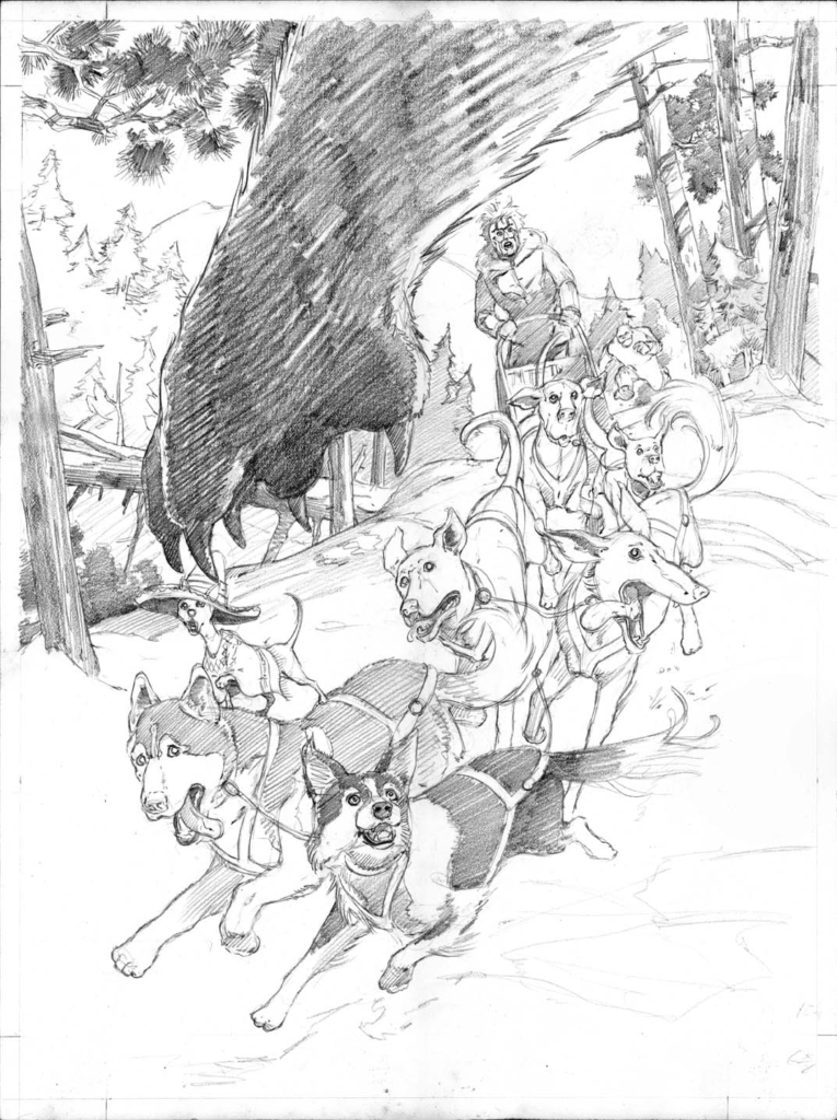 badger comic, comic book cover, final pencil, jeff slemons,